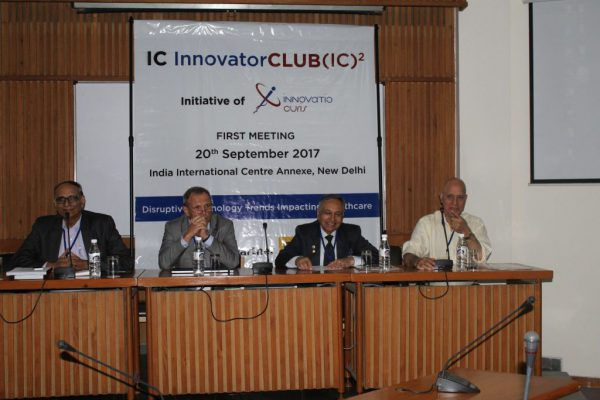 Dr-Vk-Singh-Dr-Jaanus-Pikani-Dr-Ajit-K-Nagpal-and-Dr-Shiban-Ganju-at-IC-InnovatorCLUB-first-meeting-1024x683