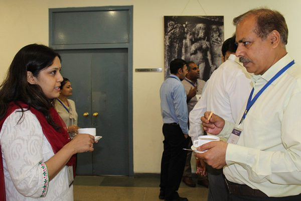 12. Dr. Swati Subodh and Dr. Bhupesh Sharma at Lunch