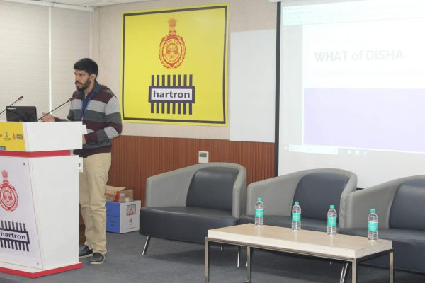 Dhruv Singh presentation on DISHA in IC InnovatorCLUB seventh meeting