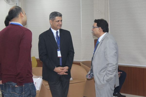 Divye Chhabra and Sanjay Kumar Jain interacting in IC InnovatorCLUB seventh meeting