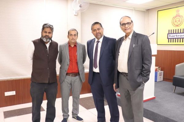 (L-R) Priya Ranjan , Rajeev Janardhnan, Sachin Gaur and Dr. VK Singh at IC InnovatorCLUB seventh meeting