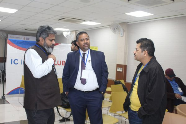 Priya Ranjan , Rajeev Janardhnan and Munender Soperna at IC InnovatorCLUB meeting
