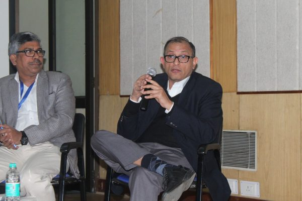 Adv. Rabin Majumdar and Rahul Bhambry, panel discusion on Trends & opportunities of IoMT at IC InnovatorCLUB Meeting at IIT Delhi