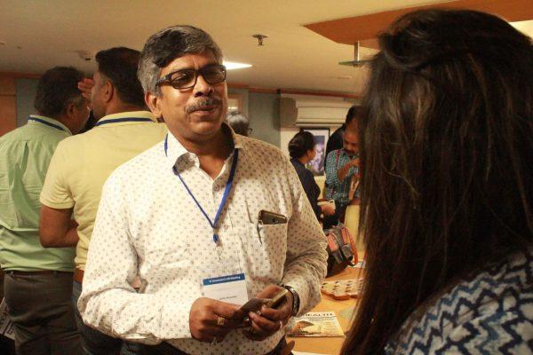 Adv. Rabin Majumdar interacting with Ms. Suruapa Chakrabarti